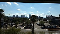 Phoenix Skyline as seen from the upper floor of the Phoenix Art Museum - panoramio.jpg