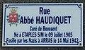 Photo de plaque de rue prise dans la commune d'Étaples - rue Abbé Haudiquet.jpg