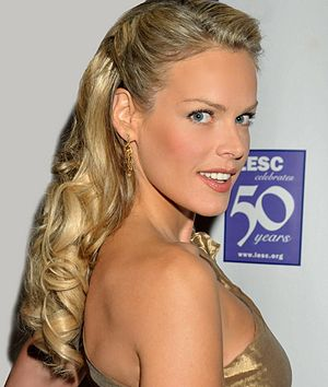 Heidi Albertsen - Image: Photo of Supermodel Heidi Albertsen at the 50th Anniversary LESC Gala