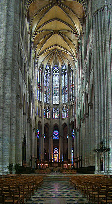 Interior of Beauvais choir, looking west.
