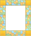 Picture frame leaves stainedglass 04.png