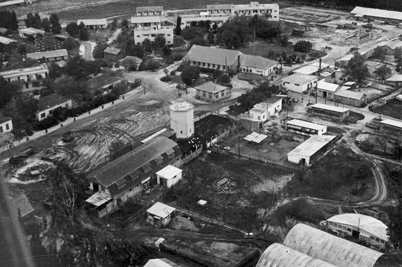 גן-שמואל מהאויר 1950