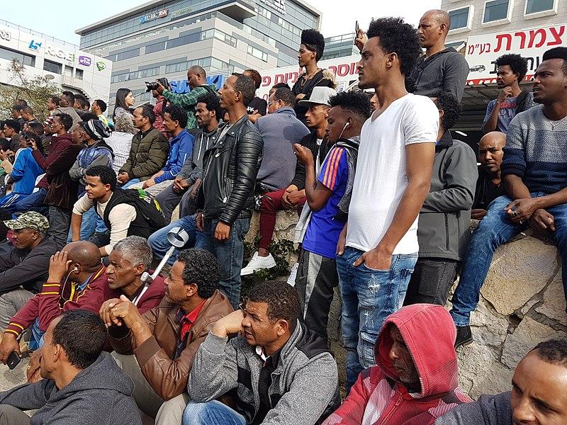 הפגנה נגד גירוש פליטים