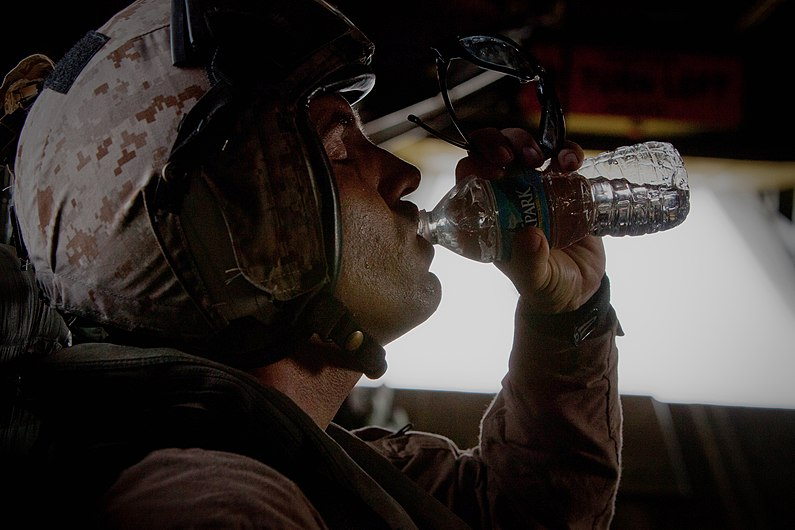 Pilot drinking water.jpg