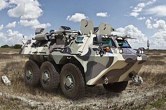 Anoa (armoured personnel carrier) - First production model of the Anoa APC.