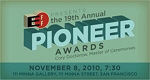 EFF Pioneer Award cover