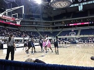 "2011–12 Pittsburgh Panthers women's basketball team - Pitt vs Seton Hall women's ""Pink the Petersen"" basketball game on February 25, 2012"