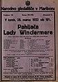 Plakat za predstavo Pahljača Lady Windermere v Narodnem gledališču v Mariboru 28. marca 1922.jpg