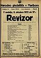 Plakat za predstavo Revizor v Narodnem gledališču v Mariboru 8. oktobra 1922.jpg