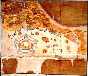 Real Felipe Fortress - Image: Plano Real Felipe 1