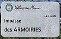 Plaque Impasse Armoiries - Villiers-sur-Marne (FR94) - 2021-05-07 - 1.jpg
