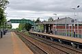 Platforms and footbridge, Bredbury railway station (geograph 4512680).jpg