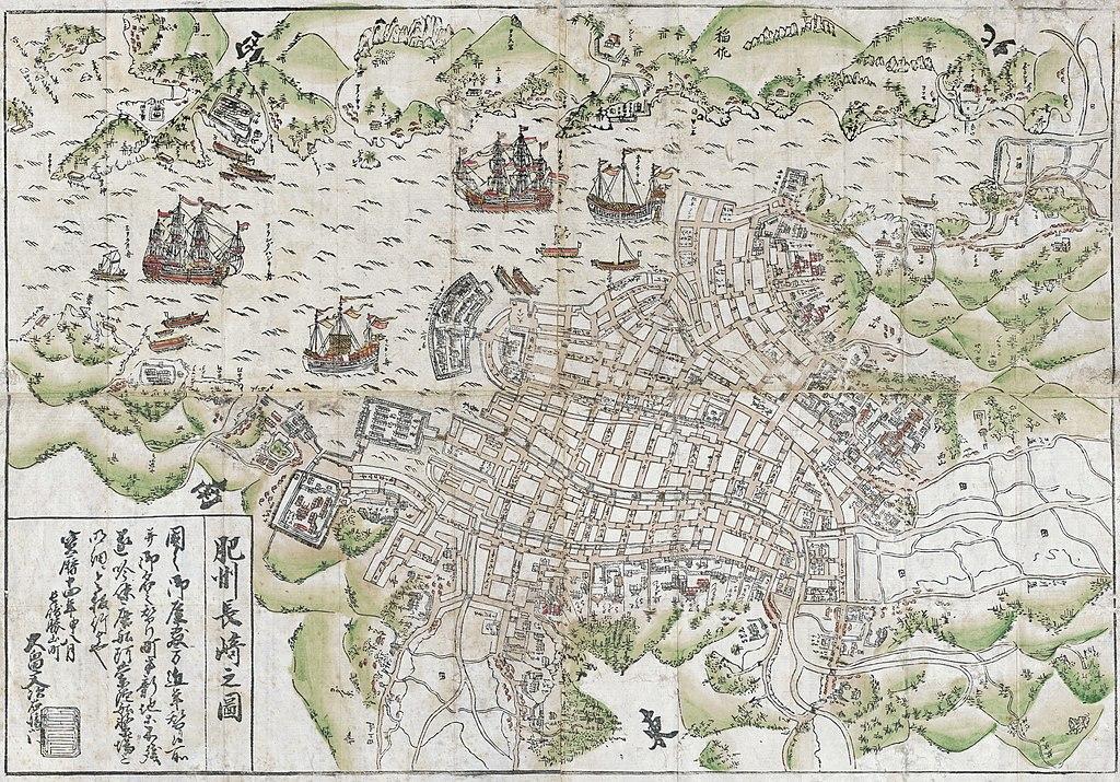 Plattegrond van de Stad van Nakasaki