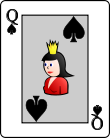 Playing card spade Q.svg