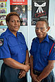 Police officers Peter and Malen look after the cases at the Family and Sexual Violence Unit at Waigani Police Station, Port Moresby PNG. (10714048234).jpg