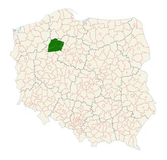 Krajna - Location of Krajna region in Poland
