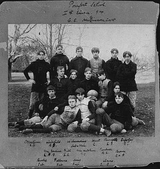 "Pomfret School - Pomfret School's ""1st Eleven"" football team, 1894"