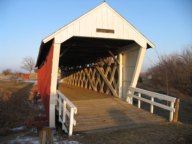 Madison County Covered Bridge - Image Courtesy Wikimedia Commons