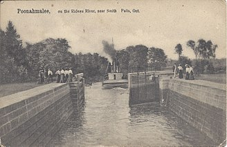 Rideau Canal - Poonahmalee, on the Rideau River, near Smith Falls, Ontario – October 1906