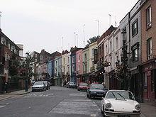 Portobello Road come appare quando non si svolge il mercato