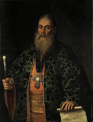 Archpriest - A Russian archpriest in his street clothes – Feodor Dubyansky, confessor to the Empress Elizabeth and Catherine II (the portrait of Alexei Antropov, 1761)