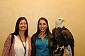 Posing for picture with Bald Eagle. (10595710683).jpg