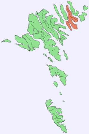 Borðoy - Image: Position of Borðoy on Faroe map