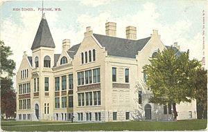 Portage, Wisconsin - Portage High School, 1911
