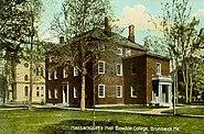 Postcard of Massachusetts Hall, Bowdoin College