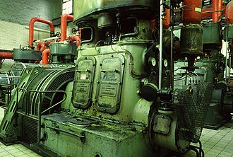 Whittingham Hospital - One of four Belliss and Morcom engines used to generate the hospital's electricity supply, pictured in 1986