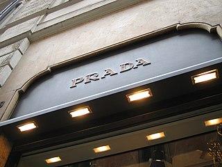 Prada Italian luxury fashion house