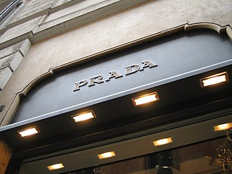 Prada - A Prada shop in Rome, Italy.