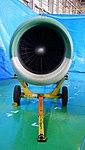 Pratt & Whitney JT8D-9 turbofan engine front view at JASDF Iruma Air Base November 3, 2014.jpg