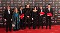 Premios Goya 2018 - Albert Rivera, Marta Rivera de la Cruz, Alberto Garzón, Mariano Barroso, Nora Navas, Pablo Iglesias y Pedro Sánchez.jpg