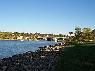 Prescott, Wisconsin - View of Prescott from park on Point Douglas