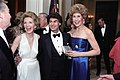 President's 70th Birthday Party Nancy Reagan with Betsy Bloomingdale and Julius Bergtsson in The Cross Hall.jpg