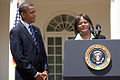 President Barack Obama with Surgeon General nominee Regina Benjamin 07-13-09.jpg