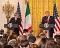 President Donald Trump and PM Paolo Gentiloni Joint Press Conference, April 20, 2017 (cropped).jpg