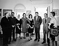 President John F. Kennedy with Democratic Party Fundraisers JFKWHP-AR8252-B.jpg
