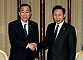 President Lee meeting with U.N. Secretary General Ban Ki-moon (4342577516).jpg