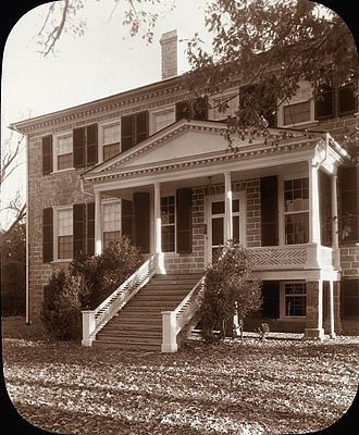 Prestwould - Prestwould, by Frances Benjamin Johnston, 1935. Built in 1797 for Sir Peyton Skipwith