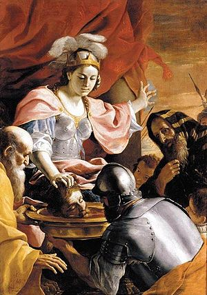 Tomyris - Mattia Preti, Tomyris Receiving the Head of Cyrus, 1670–72