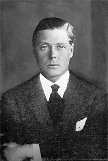 Edward VIII King of the United Kingdom and its dominions in 1936