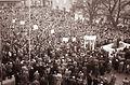 Protestno zborovanje na mariborskem Trgu svobode ob umoru kongovskega predsednika Patricea Lumumbe 1961 (2).jpg