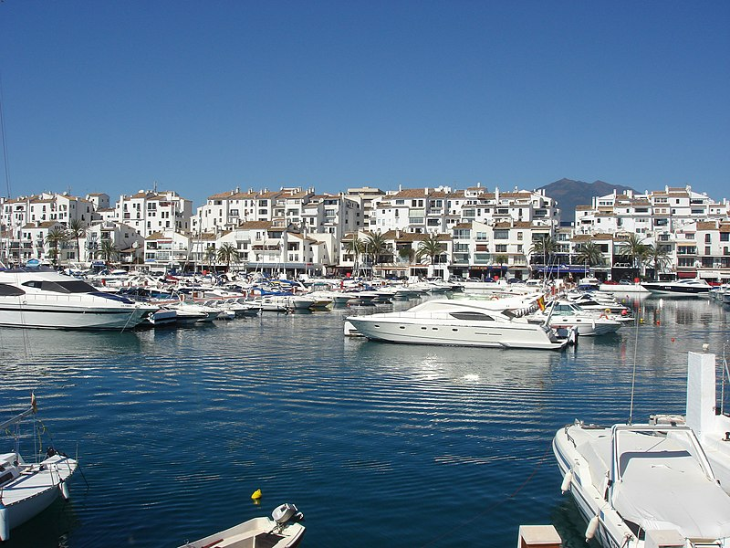 Skyline of Puerto Banús