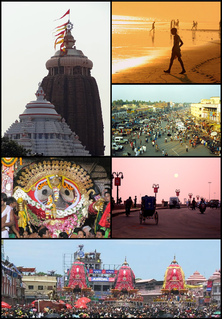 Puri City in Odisha, India