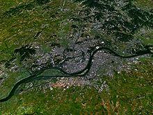 Satellite view of P'yŏngyang.