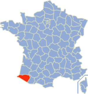 Roman Catholic Diocese of Bayonne, Lescar and Oloron - Image: Pyrénées Atlantiques Position