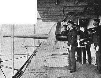 QF 14 pounder Maxim-Nordenfelt naval gun - Image: QF14pounder&Gun Crew HMVS Cerberus 1900
