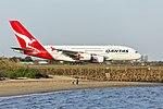 Qantas (VH-OQI) Airbus A380-842 at Sydney Airport.jpg